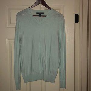 Men's Kenneth Cole Aqua V Neck Cotton Sweater